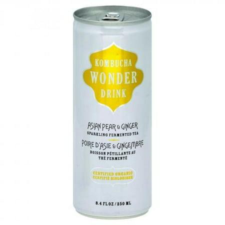 Kombucha Wonder Drink Wonder Drink, Asian Pear and Ginger, 8.4