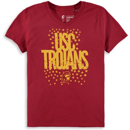 Girls Youth Cardinal USC Trojans Rocki V-Neck T-Shirt
