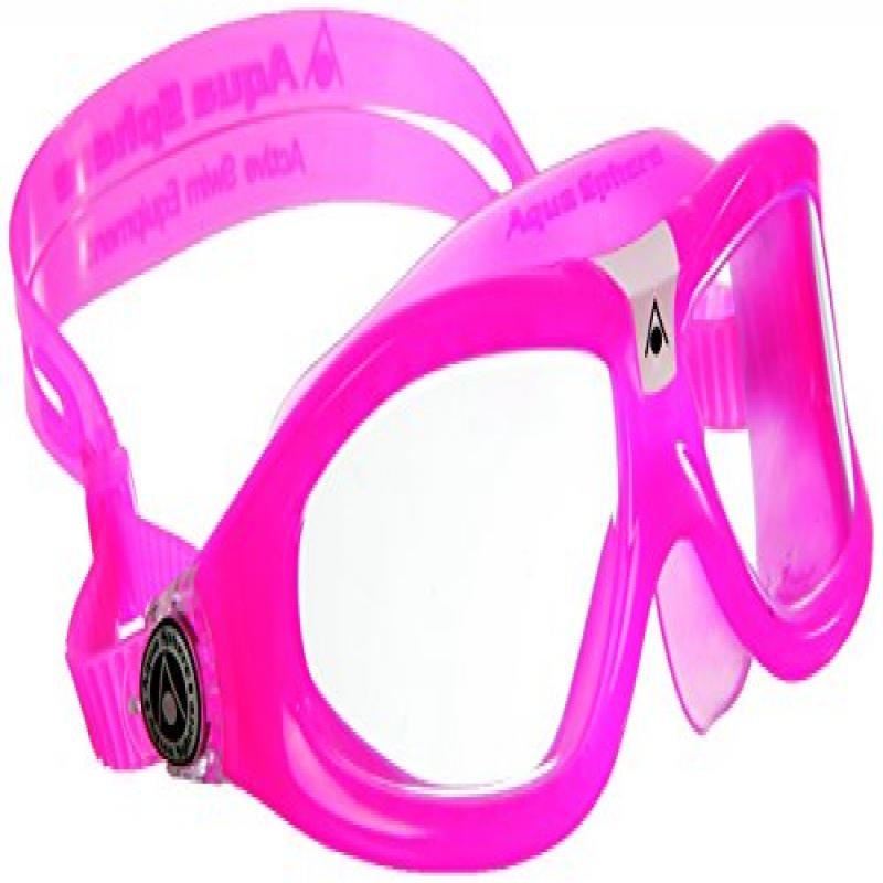 Aqua Sphere Seal Kid 2 Swimming Goggles Clear Lens Pink by