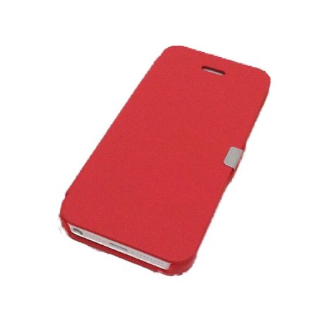 Skin Flaps (TCD iPhone 5 Ultra Slim Thin Luxury Magnetic Flap Leather Skin Case Cover )