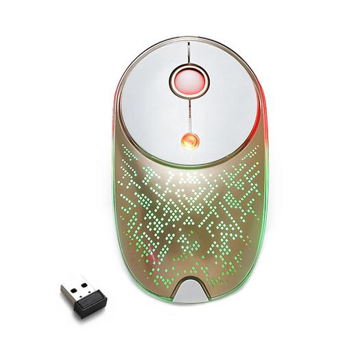 6-Button Wireless Optical Mouse,2.4 GHz Laptop USB wireless receiver-Gold