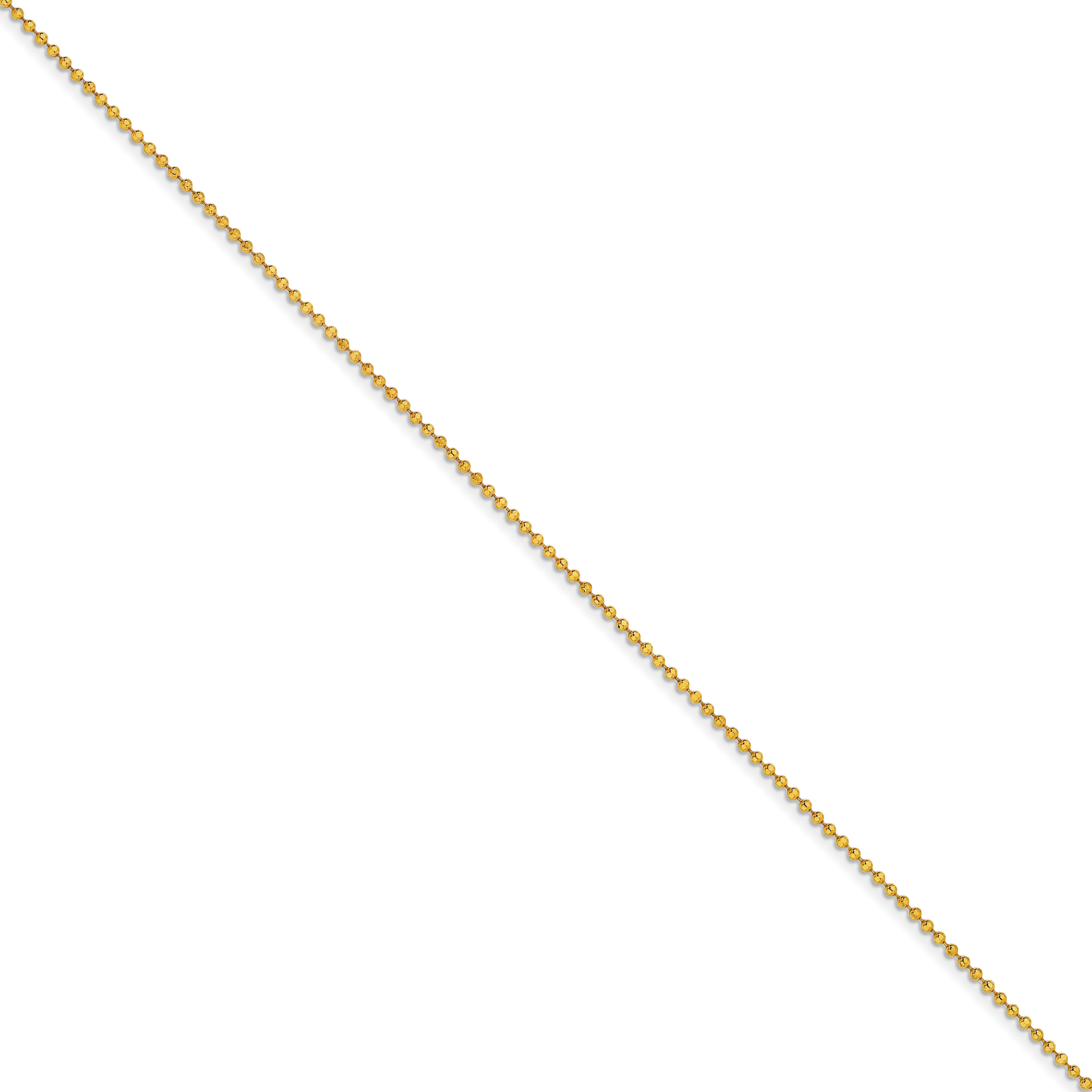 Yellow Over Brass 2mm Plated Ball Chain Necklace 16 Inch Pendant Charm Beadsed Fashion Jewelry Gifts For Women For Her - image 3 de 3