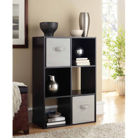 Mainstays 6 Cube Storage Organizer, Multiple Colors - Office Cube Decoration