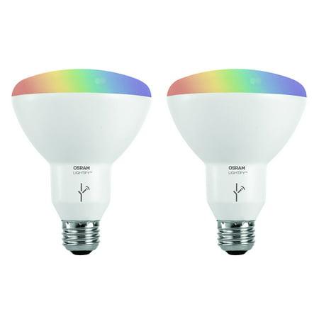 Sylvania SMART+ ZigBee 65W Equivalent Full Color BR30 High CRI LED Light Bulb, 2-count
