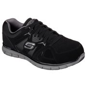 Skechers Work Mens Synergy Ekron Alloy Toe Athletic Safety Shoes