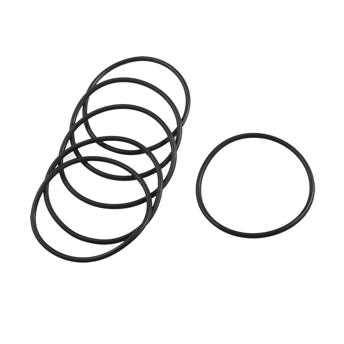 Unique Bargains 5 x 55mm External Dia 2.65mm Thickness Industrial Rubber Oil Seal O Ring Gaskets