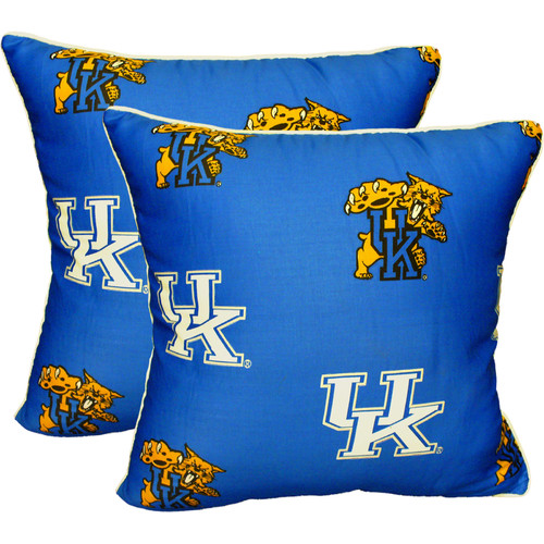 College Covers NCAA Kentucky Decorative Cotton Throw Pillow (Set of 2)