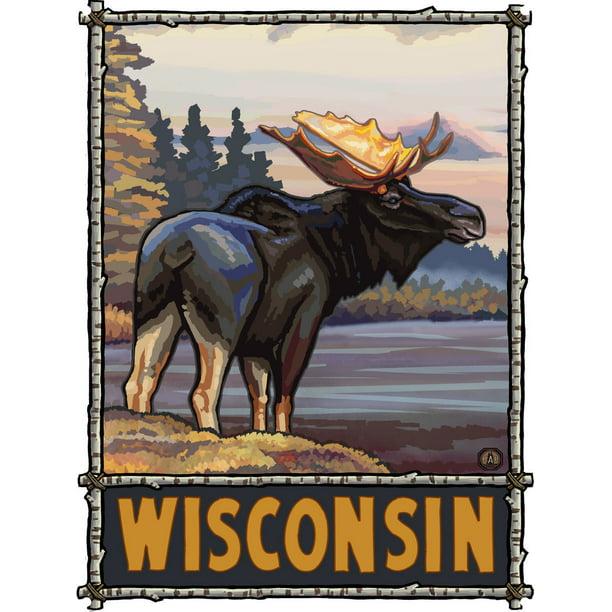 "Wisconsin Moose Metal Art Print by Paul A. Lanquist (9"" x ..."