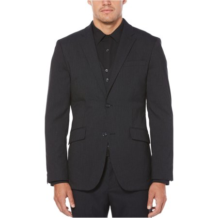 Perry Ellis Mens Pinstripe Two Button Blazer Jacket Mens Navy Pinstripe Wool Suit