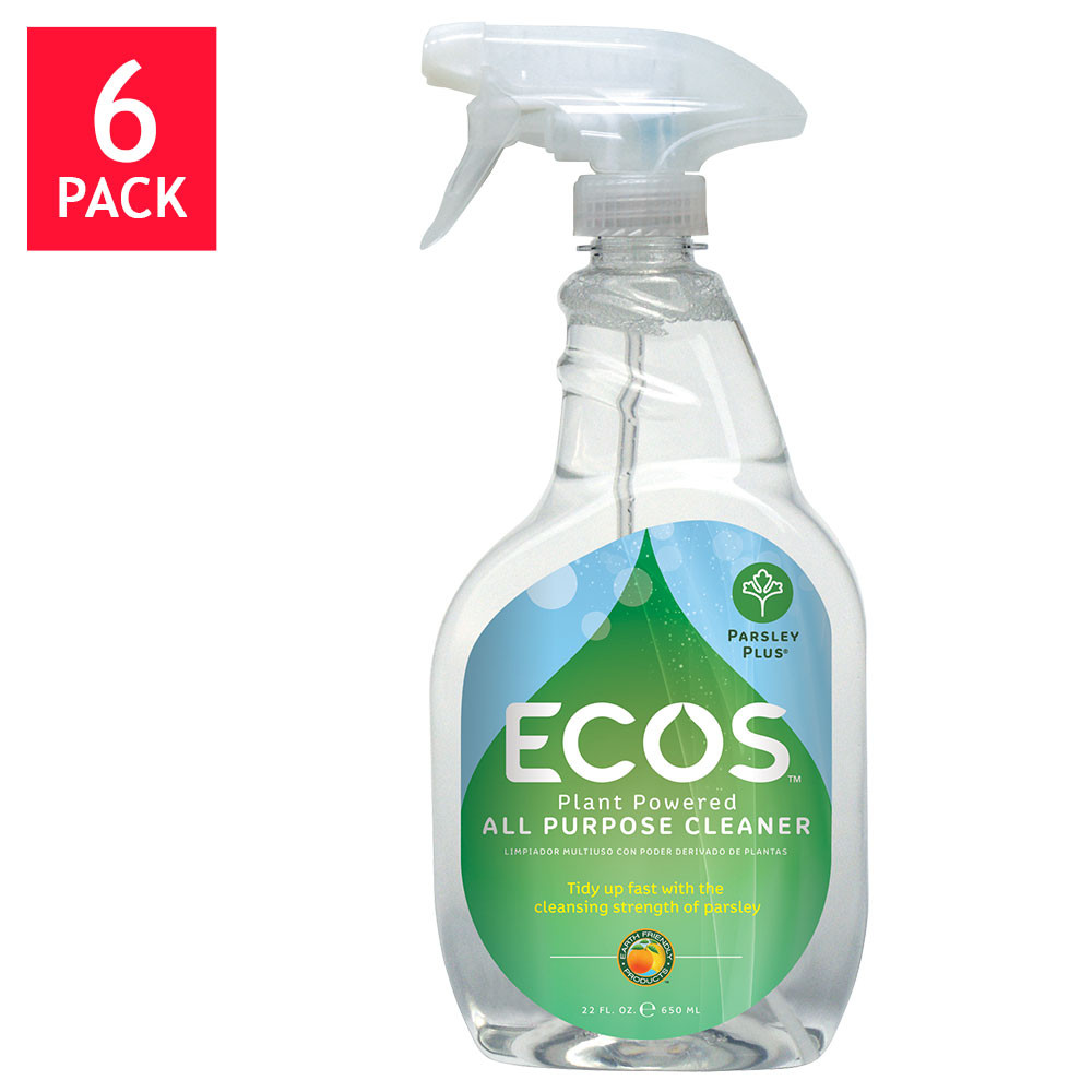 ECOS Earth Friendly Products Parsely Plus All Purpose Cleaner 22 oz. Bottle 6-count
