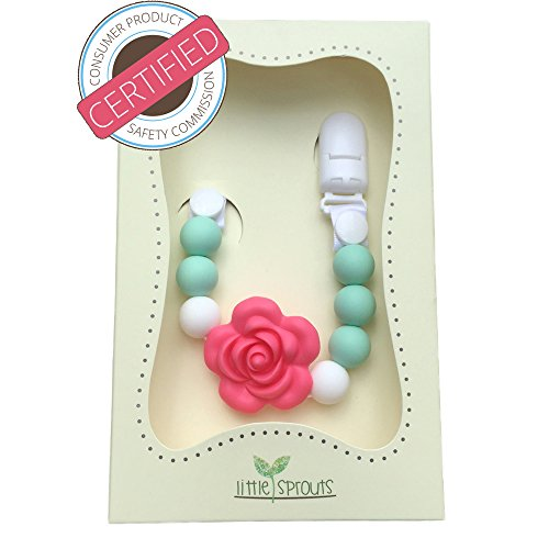 Pacifier Clip 2 In 1 Teething Baby Silicone Beads With Unique