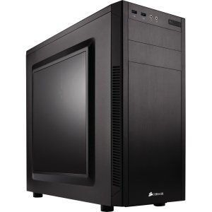 """Corsair Carbide Series 100R Mid-Tower Case - Mid-tower - Black - Steel - 6 x Bay - 2 x 4.72"""" x Fan(s) Installed - 0 - ATX, Micro ATX, Mini ATX Motherboard Supported - 10.58 lb - 5 x Fan(s)"""
