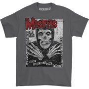 Misfits Men's  All Ages Skeleton T-shirt Charcoal