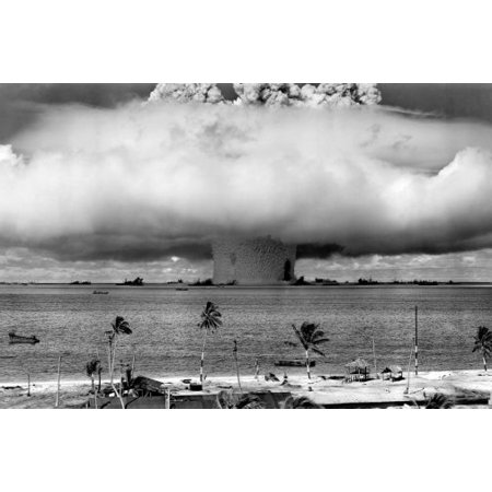 Nuclear Ruby - Operation Crossroads Baker Atomic Bomb Nuclear Testing 11x17 Poster