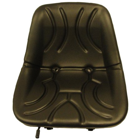 """Tractor Seat, 15"""" Low Back Bucket Style Seat, Metal Pan with Drain and Slide Adjustment Base"""