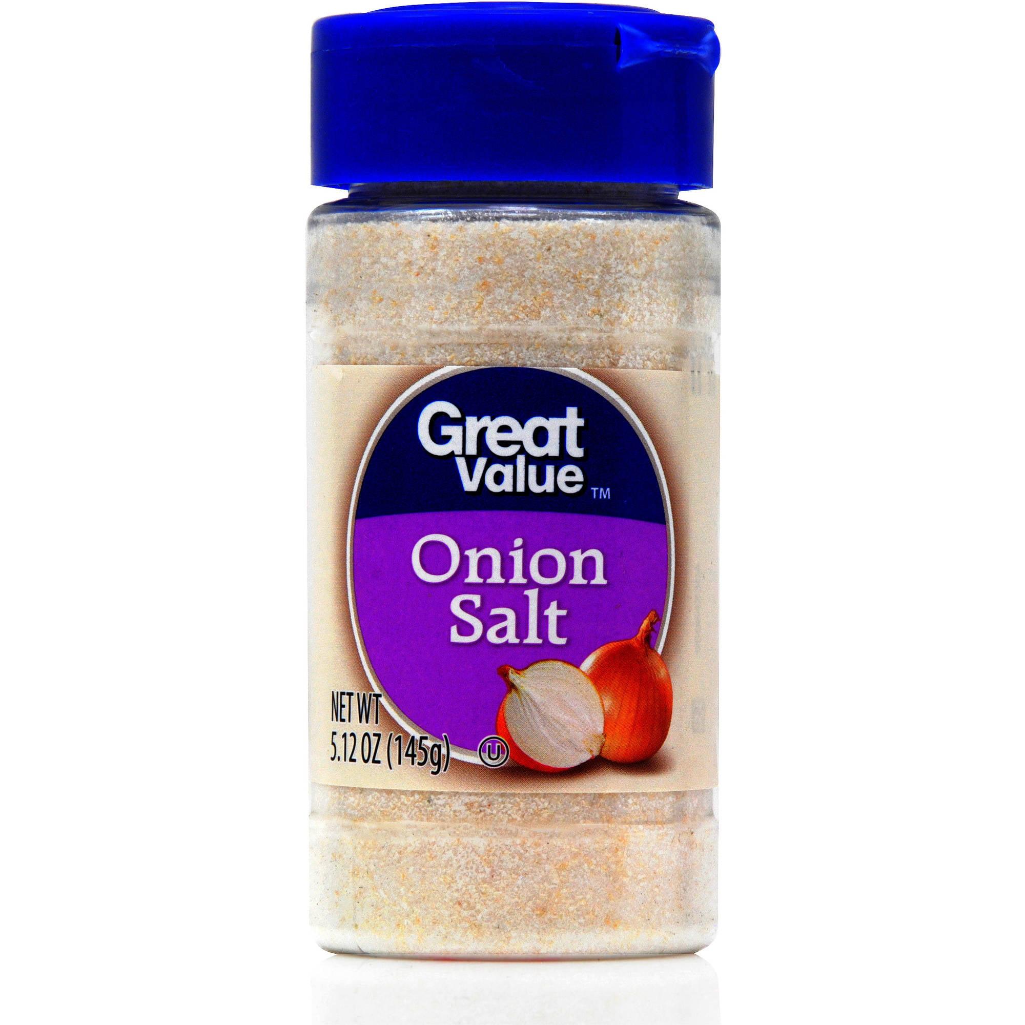 Great Value Onion Salt, 5.12 oz