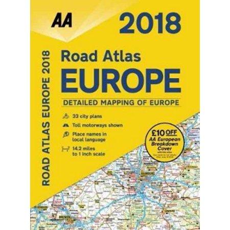 Aa Road Atlas Europe 2018