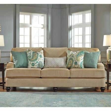 Ashley Lochian Chenille Sofa In Bisque