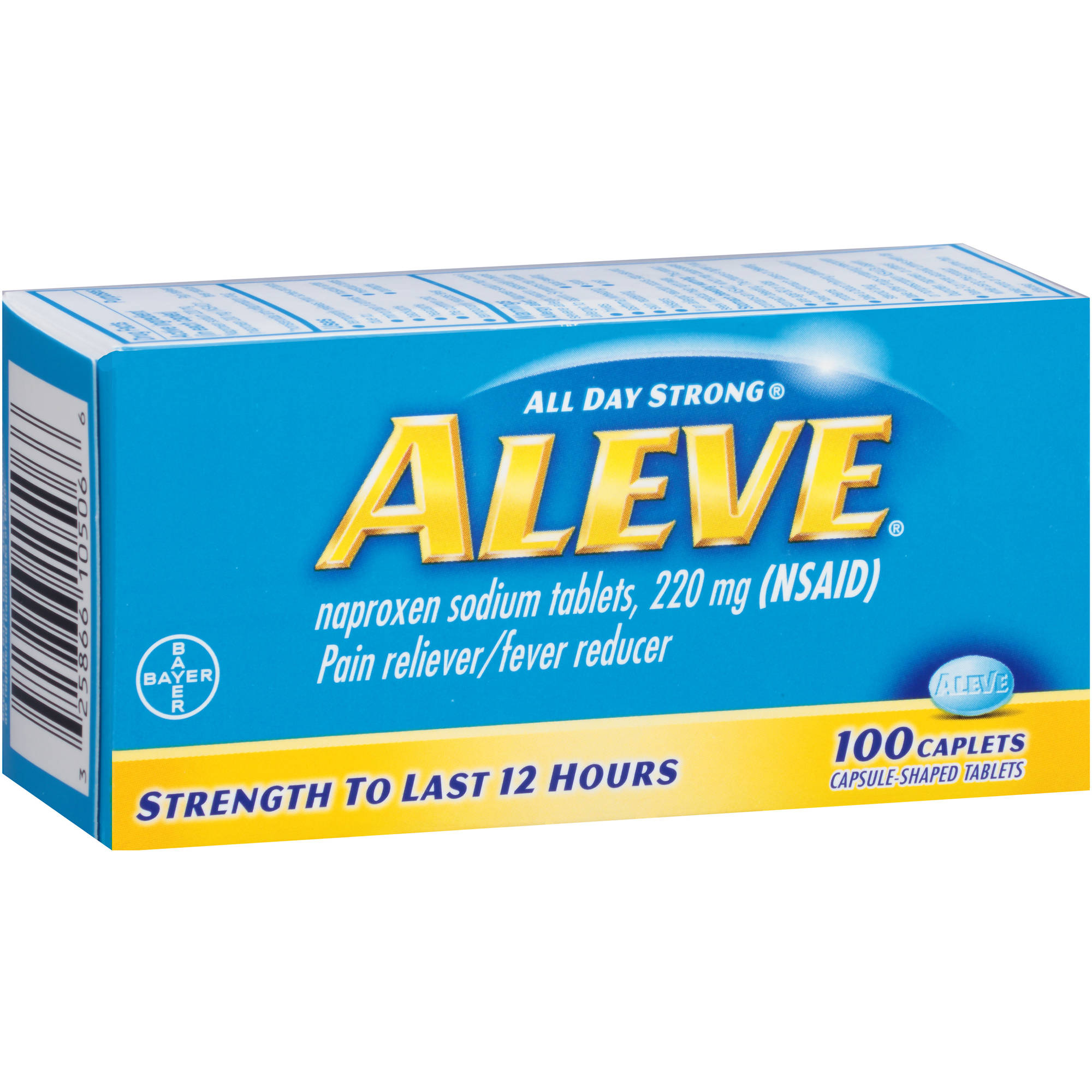 Aleve Naproxen Sodium Pain Reliever/Fever Reducer, 220mg, 100 count