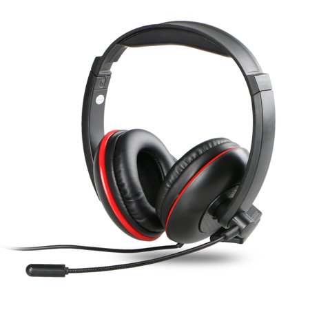 TSV Wired Gaming Microphone Headset With Audio Control For Xbox Playstation Laptop Computers PUBG Overwatch
