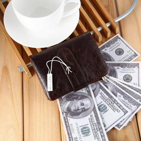 519 Men'S Handmade Pu Leather Long Wallet Retro Zipper Men And Women Handbag - image 4 of 9