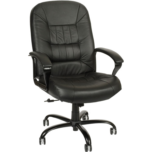 OFM Big and Tall Executive Leather Chair, Black