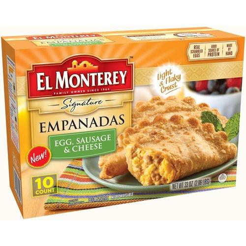 El Monterey Egg, Sausage & Cheese Empanadas, 10 ct, 33 oz