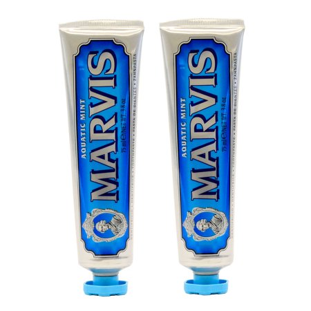 Marvis Aquatic Mint Toothpaste 3.8 oz - Pack of 2