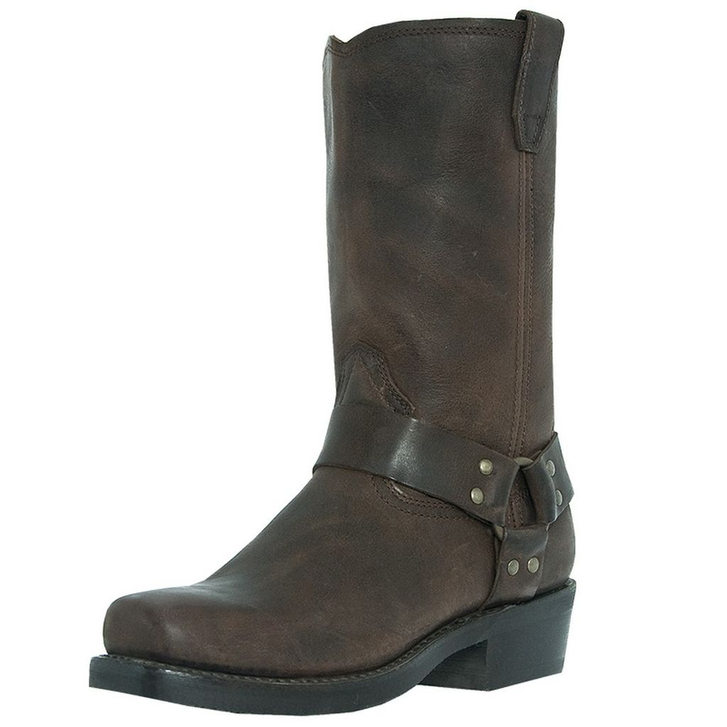 Dingo Jay Western Harness Boots Brown, Men's, 8 3e