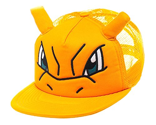 Bioworld Pokemon Charizard Big Face Trucker Snapback Hat with Ears 68452569f0e8