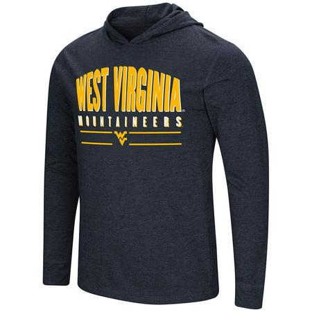 - Mens WVU West Virginia Mountaineers Long Sleeve Tee Shirt Hoodie - S