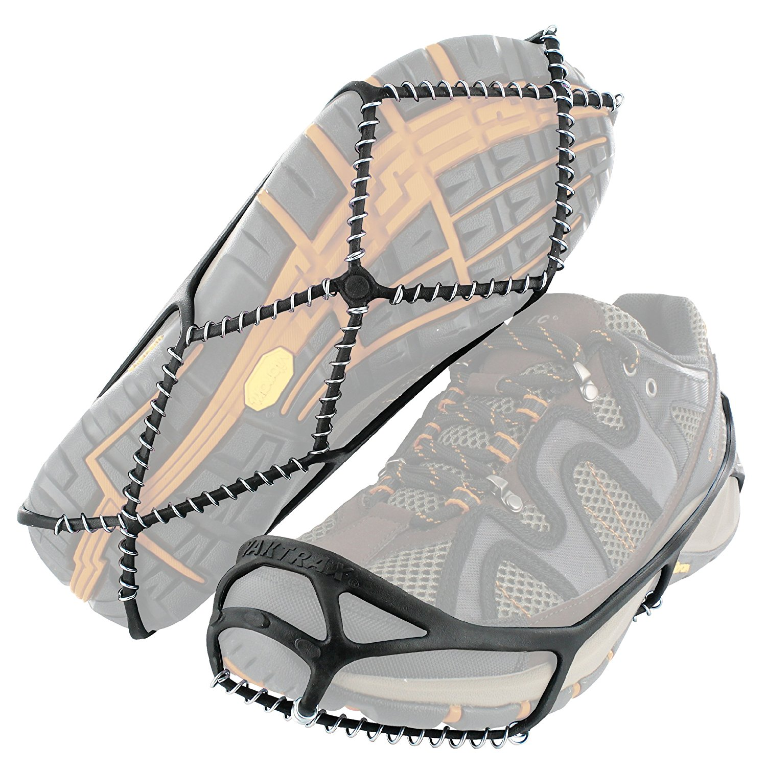 Walker Traction Cleats for Snow and Ice, Black, Medium, plastic By YakTrax