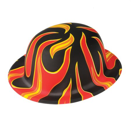 FLAME DERBY BOWLER HATS, SOLD BY 10 DOZENS