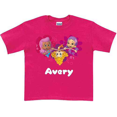 Personalized Bubble Guppies Guppy Toddler Hot Pink T-Shirt