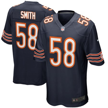 781fe2312bd mens chicago bears roquan smith nike navy 2018 nfl draft first round pick  game jersey