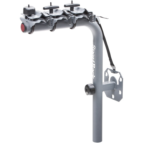 SportRack SR2813 Pathway Spare Tire Deluxe 3 Rear Mount Bike Carrier, 3-Bikes, Granite Gray