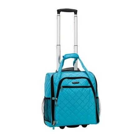 "Rockland Luggage 15"" Melrose Wheeled Underseat Softside Carry On BF31"