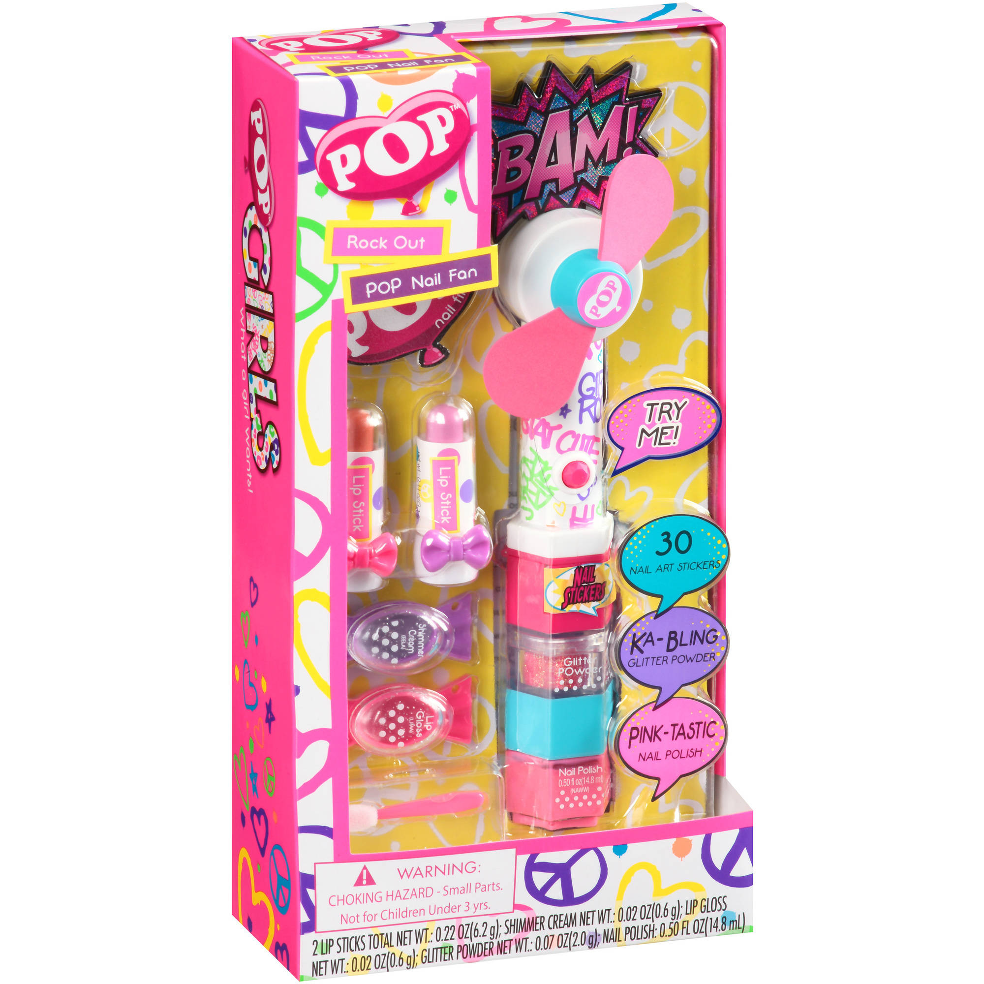 Pop Rock Out Pop Nail Fan Gift Set, 10 pc