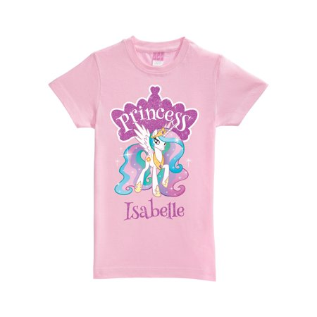 Personalized My Little Pony Princess Celestia Pink Girl's Fitted