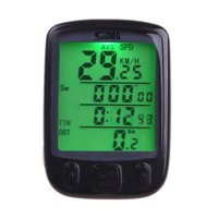 Wireless Bike Bicycle Cycling Computer Odometer Speedometer LCD Backlight Backlit Waterproof Multifunction
