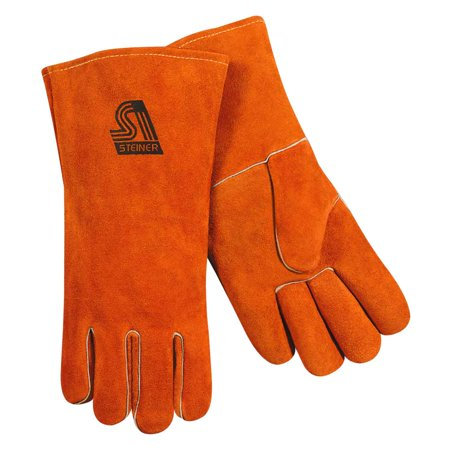 "Steiner 02140 Premium Side Split Cowhide Stick Welding Gloves, Wool Lined, 14"", Large"