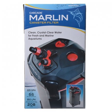 Penn-Plax Cascade Marlin Canister Filter for Fresh and Marine Aquariums ()