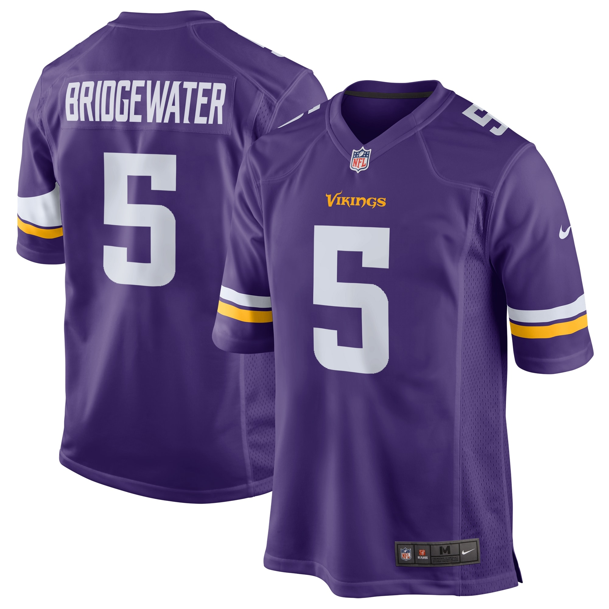 Teddy Bridgewater Minnesota Vikings Nike Game Jersey - Purple - Walmart.com