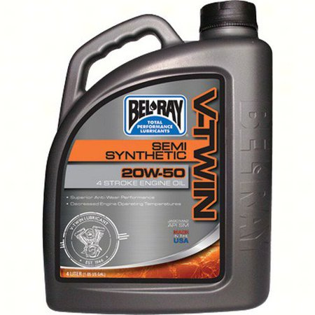 Bel-Ray Semi-Synthetic 20w50 Engine Oil 4 Liter 4 liters