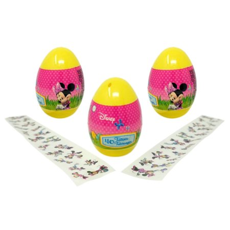- Minnie Mouse Eggs with Temporary Tattoos (3 Pack) - 40 Tattoos Each, 4.5 Inches Tall Easter Favors