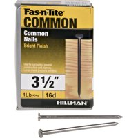 "16D Bright Common Nails (3-1/2"") - 1 lb"