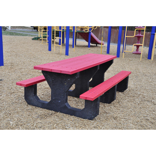 Frog Furnishings Recycled Plastic Youth Picnic Table
