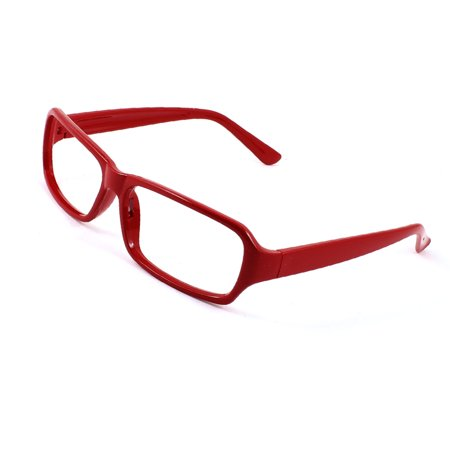 Unique Bargains Girls Red Plastic No Lens Rectangle Eyeglasses Spectacles Full (Online Shopping For Spectacle Frames)