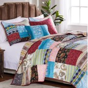 Greenland Home Fashions Bohemian Dream Quilt Set with Decorative Pillows