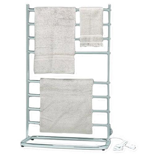 "Jerdon Warmrails Hyde Park 39"" Family Size Floor-Standing Towel Warmer, Nickel"